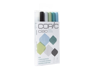 Copic Ciao 6 Piece Kit Sea Ocean Colors