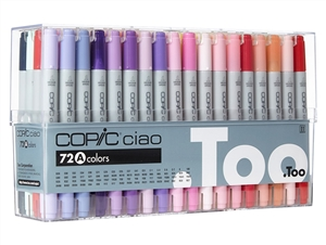 Copic Ciao Markers: 72 Color - Set A