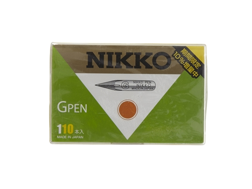 Nikko G Pen Chrome Nib - 110 Piece Box