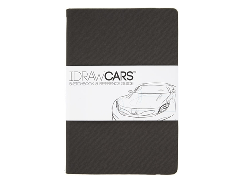 I DRAW CARS Sketchbook Reference Guide 8.5x6x0.5 inches