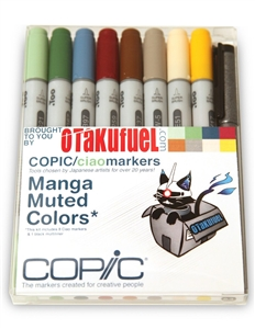Copic Ciao Manga Kit - Muted Colors Marker Set [Otakufuel-Hineko set]