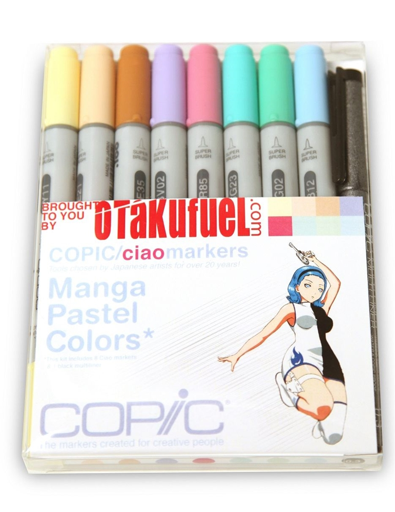 Copic ciao markers pasteles 6pc