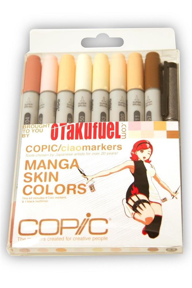 Copic Ciao Manga Kit Skin Tone Colors Marker Set Otakufuel Hime Package