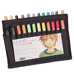 Copic Ciao Wallet Set B - 22 Colors + 2 Multiliners