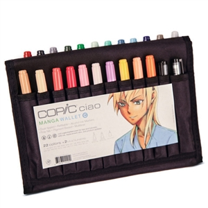Copic Ciao Wallet Set C - 22 Colors + 2 Multiliners
