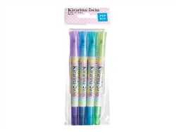 Aqua 4 piece 2win Scented Water-based Marker Set