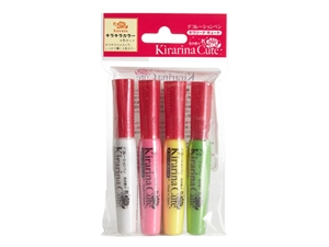 Kirarina Cute 4pc Kira-kira Scented Pen Set