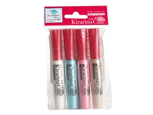 Kirarina Cute 4pc Pearl Scented Pen Set
