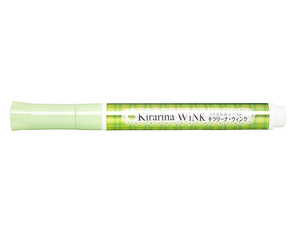Kirarina Wink Lime Green Glitter Pen