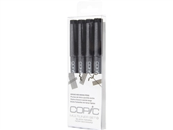 Copic Multiliner Inking Pens 4 Piece Black Broad Set