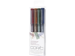 .Copic Multiliner Inking Pens 4 Piece 0.3mm COLOR Set