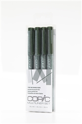 Copic Multiliner Inking Pens 4 Piece OLIVE Set
