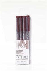 Copic Multiliner Inking Pens 4 Piece WINE Set
