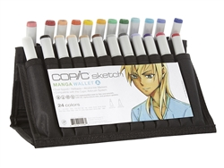 Copic Sketch Markers: 24 Color Manga Wallet Set A