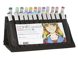 Copic Sketch Markers: 24 Color Manga Wallet Set B