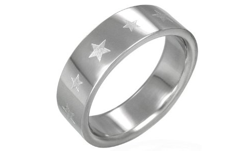 Stars Band Stainless Steel Ring-12
