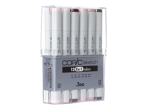 Copic Sketch Markers: 12 Color Set [EX-1]