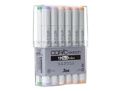 Copic Sketch Markers: 12 Color Set [EX-3]