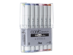 Copic Sketch Markers: 12 Color Set [EX-6]