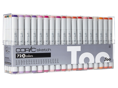 Copic Sketch Markers: 72 Color Set A