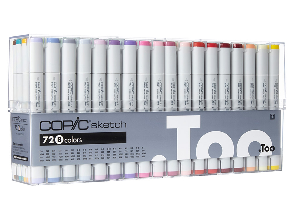 Copic Sketch Markers 72 Color Set B Colors E39 E40 E41 E43 E51