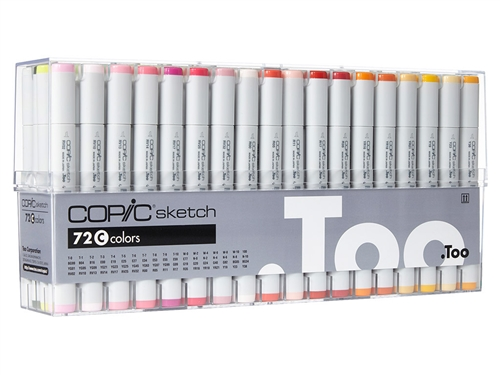 Copic Sketch Markers: 72 Color Set C