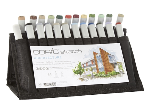 Copic Architecture Design 24 Sketch Marker Set