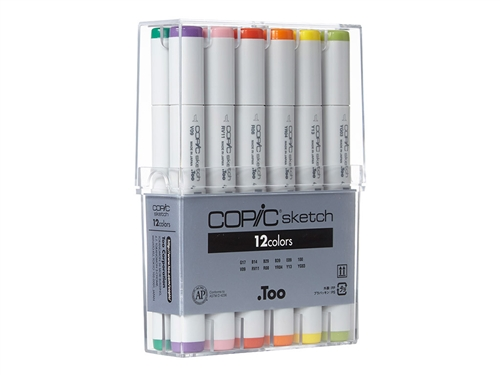 Copic Sketch Markers: 12 Color Set [Basic Set]