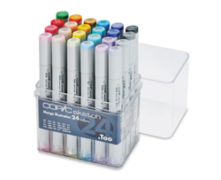 Copic Sketch Markers: 24 Color Manga Illustration Set