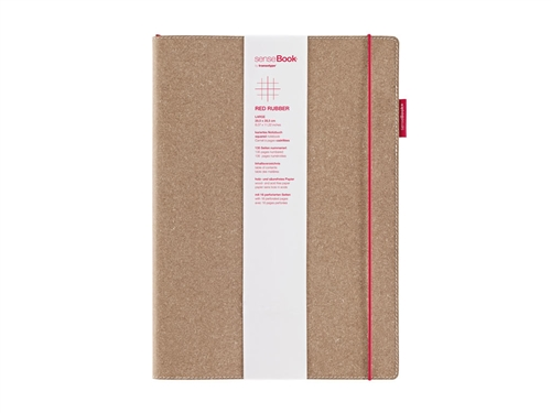 senseBook 8x11 Red Rubber Square