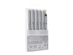 Copic Sketch Set of 6 Markers - Blending Basics