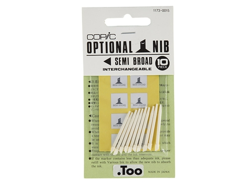 COPIC Classic - Marker Replacement Nibs - Semi Broad (Set of 10)