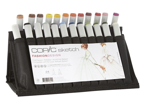 Copic Fashion Design 24 Sketch Marker Set