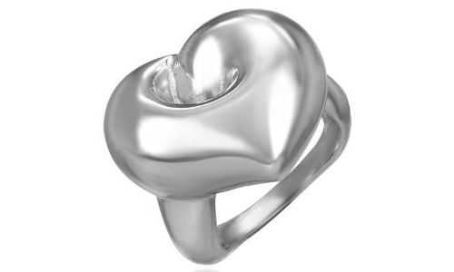 Heart Shaped Stainless Steel Ring-7