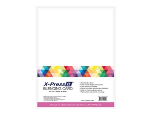 X-Press Blending Card 8.5 x 11 inches Letter Size White [25 Sheet Count] Copic