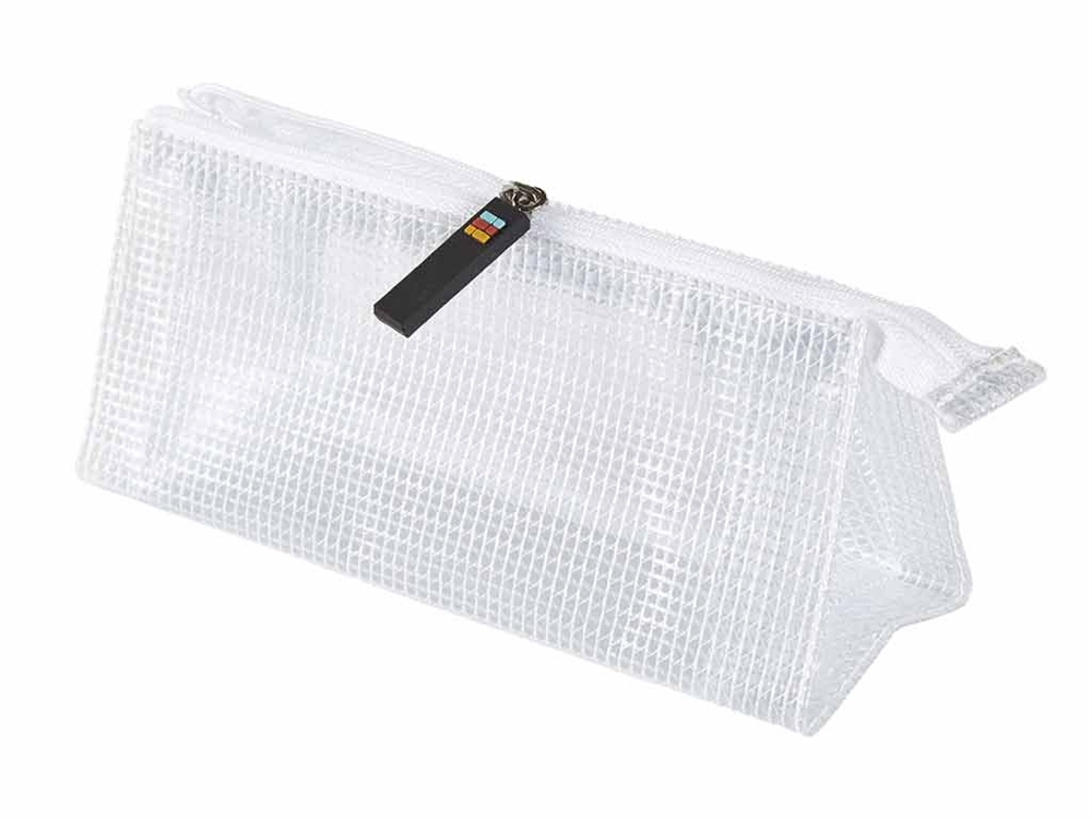 Large Capacity Mesh Zipper Bags Set of 4 Clear File Bill Receipt Pocket DIYOMR B5 Size Binder Zipper Pencil Pouch Case Double Pocket Zippered Binder Pencil Bags Pencil Cases with Clear Window