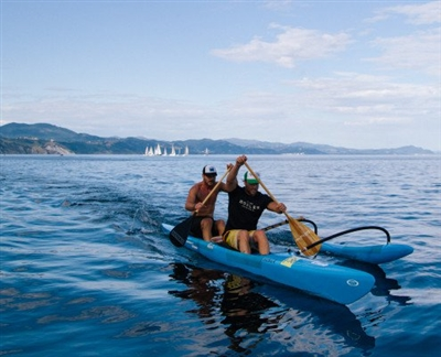 Outrigger Zone (Ozone) Tempest OC2 Outrigger Canoe, a great value in a 2 person outrigger canoe!
