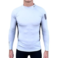 """SALE"" NEW Vaikobi L/S UV Spandex Rash Top -Silver/Black"