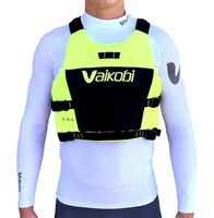 SALE. NEW Vaikobi VXP Race PFD / Life Jacket - Fluro Yellow/Black at Paddle Dynamics