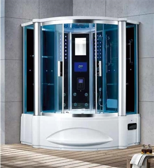 Fontana Unique Technology Corner Wall Steam Shower with Multi-Functional Control