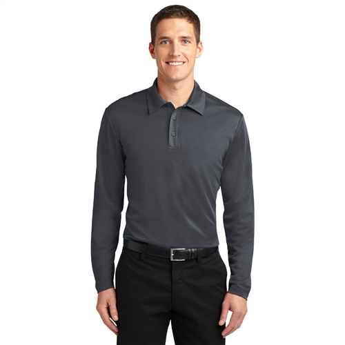 Men's Silk Touch Performance Long Sleeve Polo by Port Authority