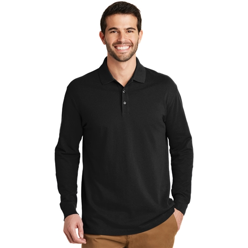 Men's EZCotton Long Sleeve Polo by Port Authority