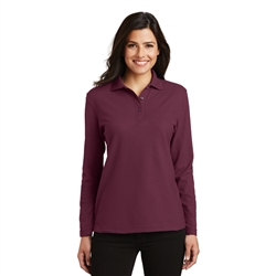 Ladies Silk Touch Long Sleeve Polo by Port Authority