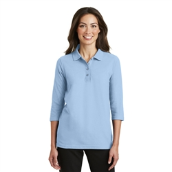 Ladies Silk Touch 3/4-Sleeve Polo by Port Authority