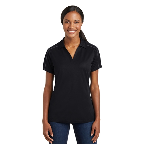 Ladies Micropique Sport-Wick Piped Polo by Sport-Tek