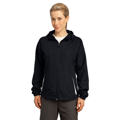 Ladies Hooded Raglan Jacket by Sport-Tek