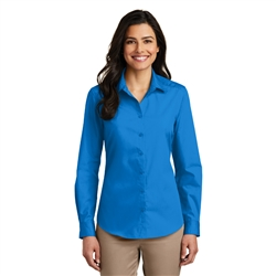 Ladies Long Sleeve Carefree Poplin Shirt by Port Authority