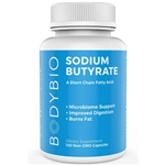 Butyrate (Sodium) - Body Bio 600mg 100 caps (0.29 lbs)