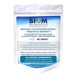 Biom Reduced L-Glutathione Probiotic - Biom Probiotics 15 count (0.16 lbs)