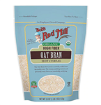 Oat Bran, Organic High Fiber Cereal - Bob's Red Mill 18 oz  (1.19 lbs)